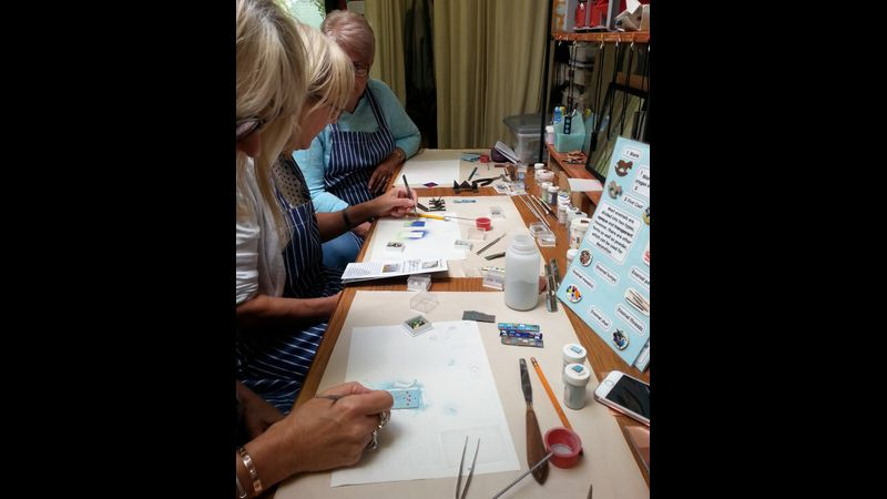 Enamelling Session - Students working