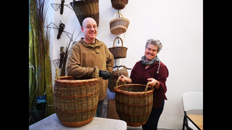 Log baskets from 2 day course