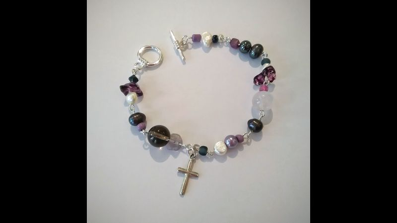 A beaded bracelet