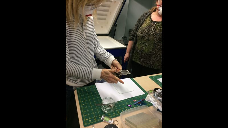 Working with glass powder; beginners fusing Shropshire