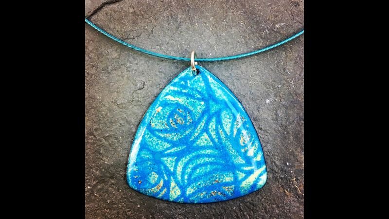 Stunning enamelled pendants to wear home! That's what we'll do on our beginners day course!