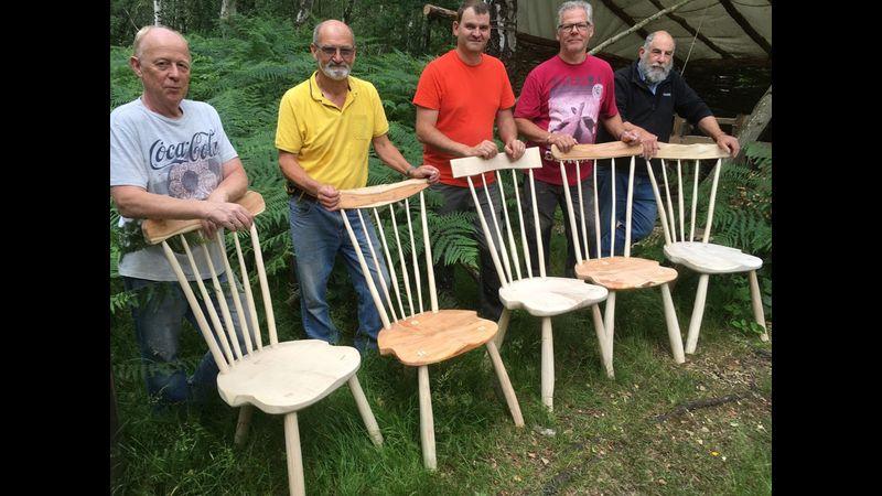 Chair making at Greenwood Days