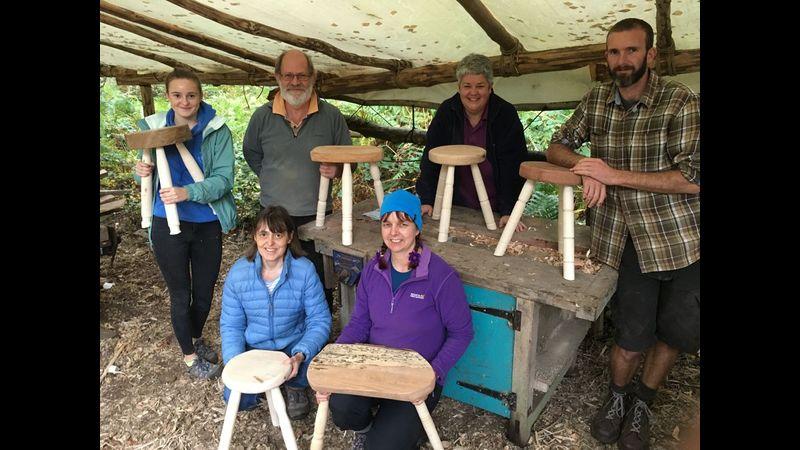 Greenwood stool making at Greenwood Days