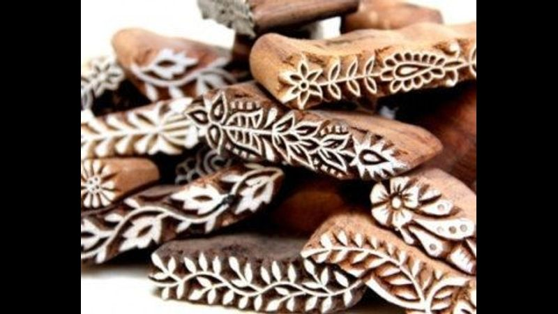 Indian Wooden Stamping workshops