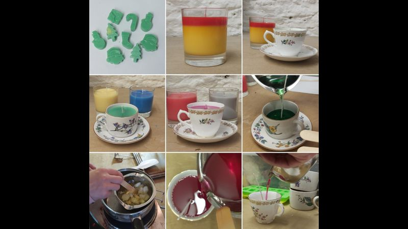 Handmade candles: online craft workshop introduction to wax container candles and wax melts beginner