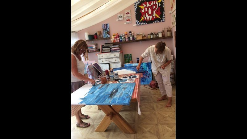 Abstract Art workshop, bespoke one day in my studio in Gainsborough