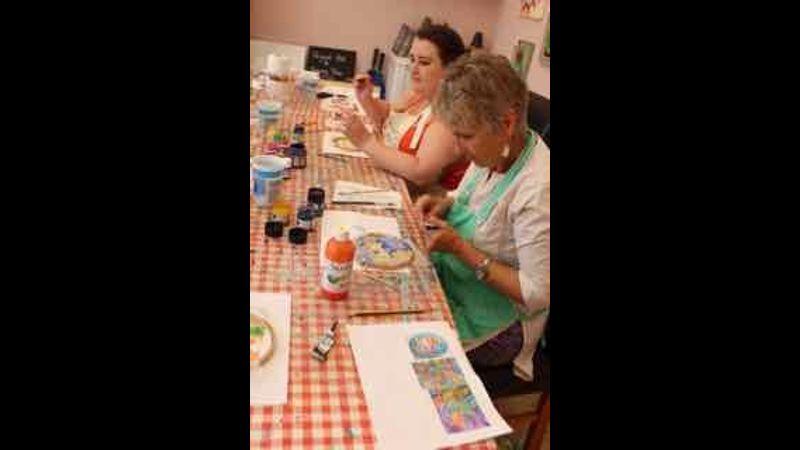 Silk painting workshop in my studio in Gainsborough