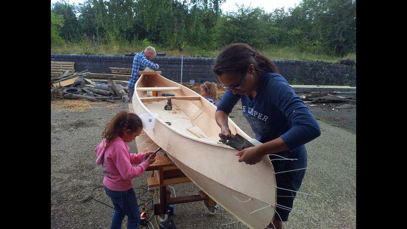 Canoe building makes a lovely family activity holiday