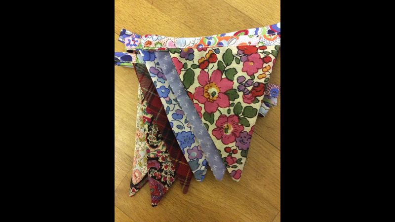Bunting Making, Learn to Sew course Frome