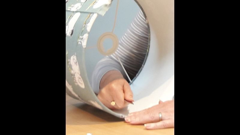 Hand rolled drum Lampshade making afternoon - a Quirky Workshop at Greystoke nr Ullswater, Lake District