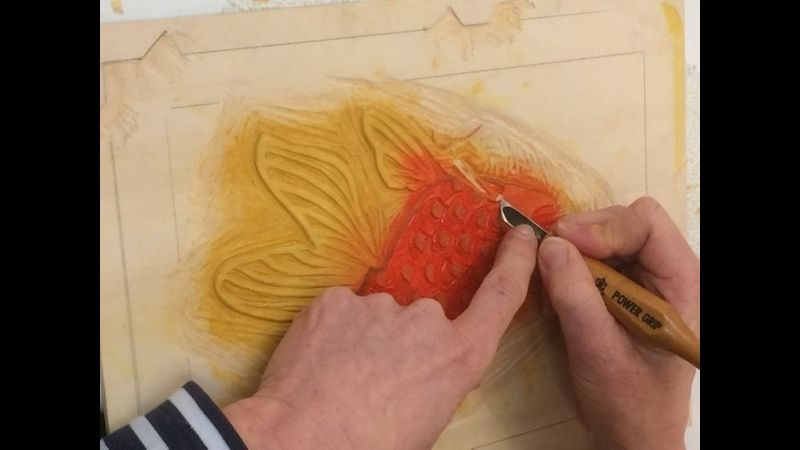 Japanese woodblock printing course