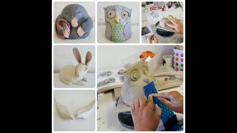 Pottery taster workshop making animals Bournemouth