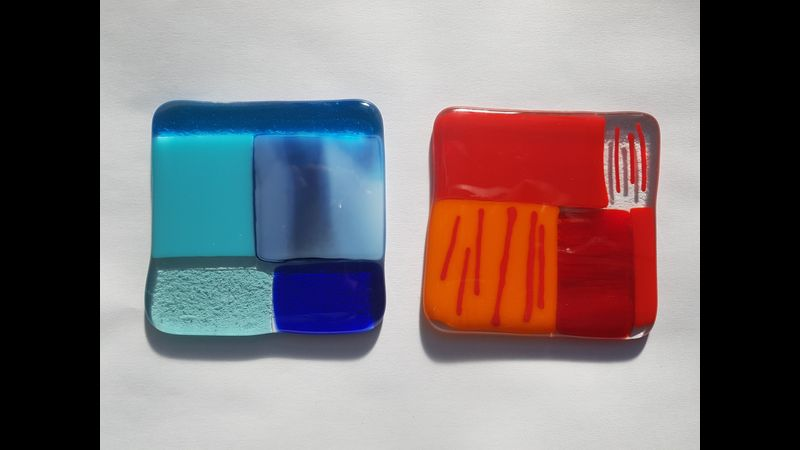 Fused Glass Coasters - Shake Your Glass