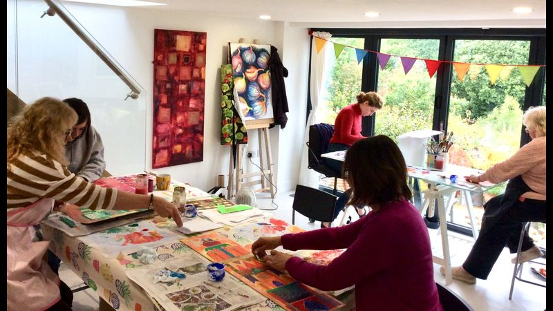 The light and spacious studio in Buxton, Derbyshire. Accessible by train just a 5 minute walk away.