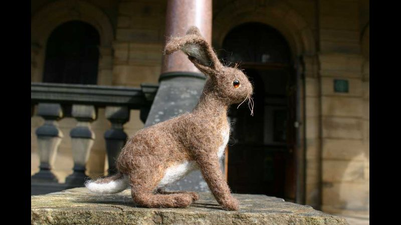 One of my needle felted hares