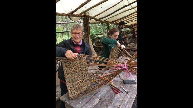 Square basketry at Greenwod Days