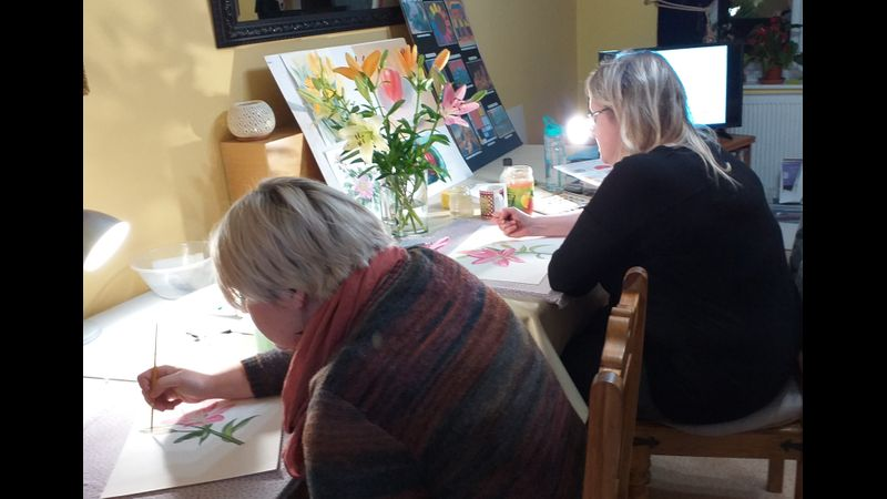 Watercolour Art Course For Beginners And More Experienced Amateur Artists In Kidderminster West Midlands Creative Craft And Artisan Courses And Workshops