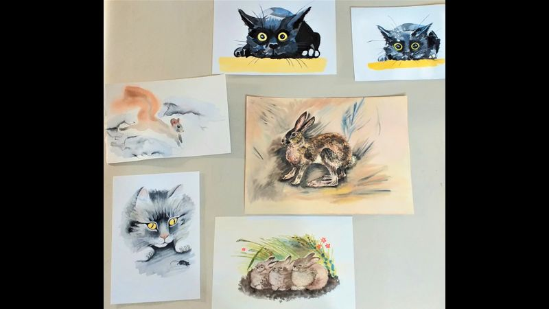 Learn how to paint animals at Watercolour course for Complete beginners in Worcestershire