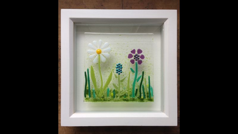 Framed flower panel