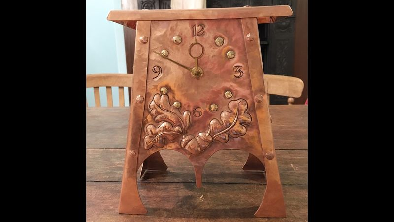 Acorn clock- designed & made by Bryony on The Victorian House of Arts & Crafts