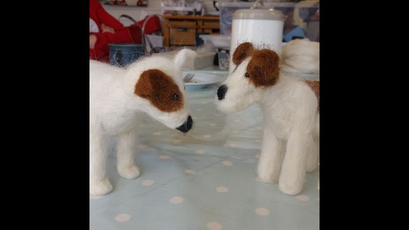Needle felting for beginners at the Craft studio in Pewsey