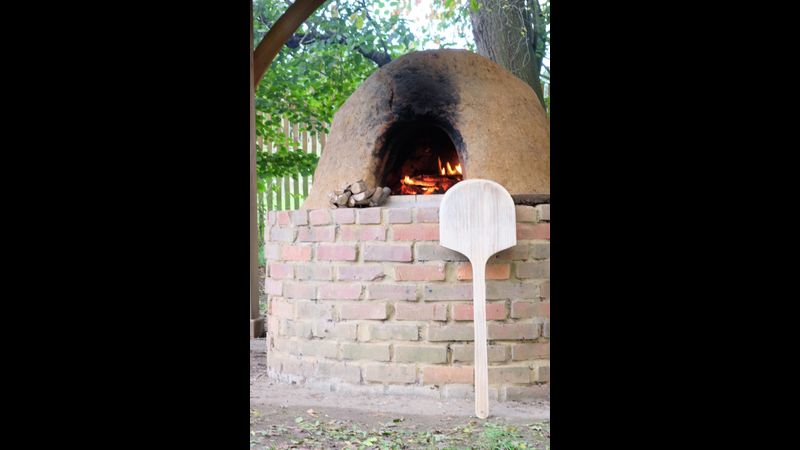 Finished cob oven
