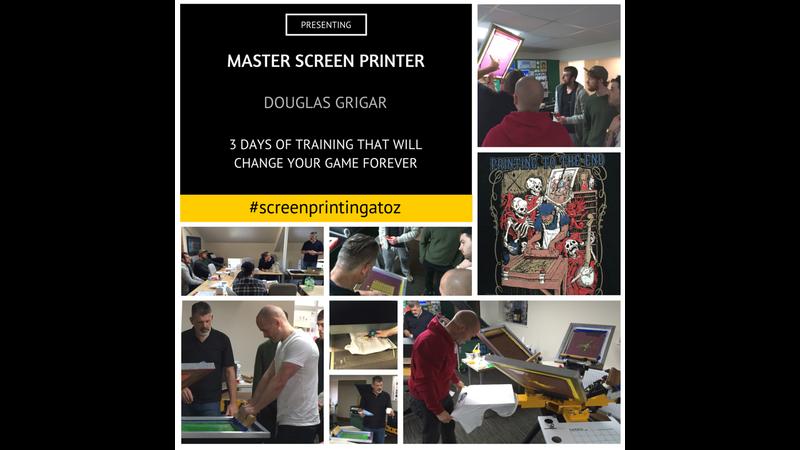 Screen printing class with Douglas Grigar, UK