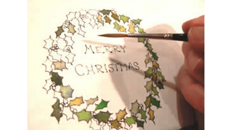 Learn to paint with watercolours - create beautiful hand painted Christmas cards