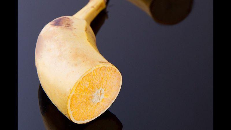 orange in banana