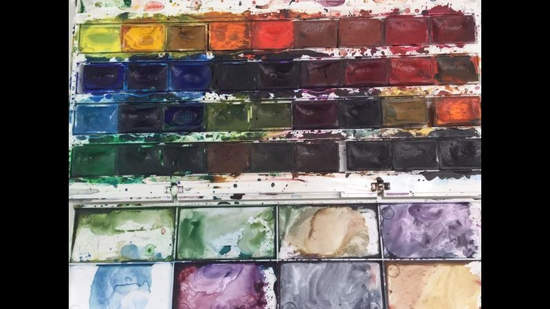 Watercolour painting course in Staffordshire