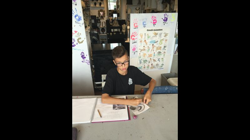 School art home work -the teenagers bring in their art books
