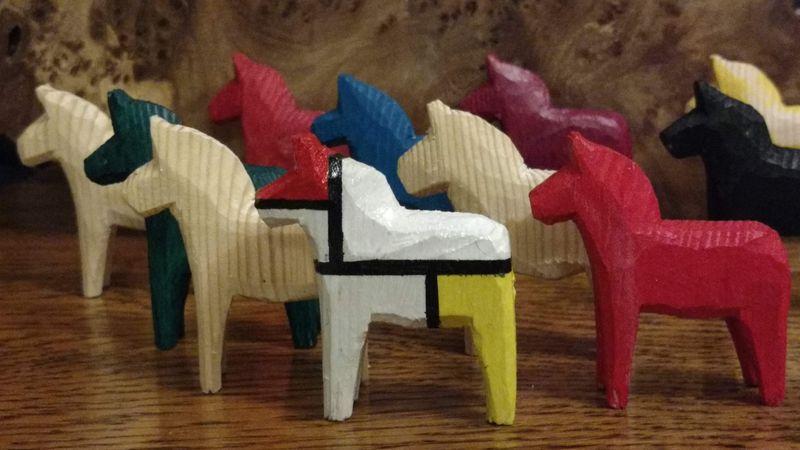 Mondrian inspired dala horse