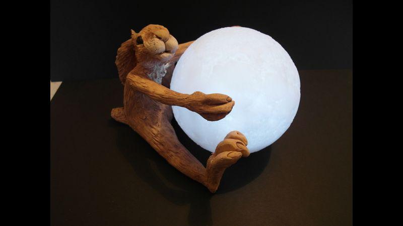 Moon hugging hare