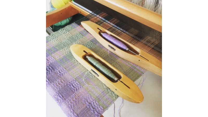 Pattern Weaving on a table loom