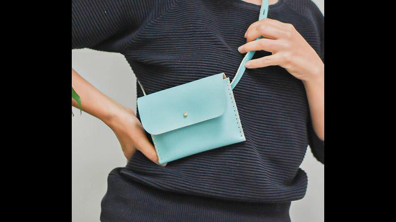 Sky Blue Belt Bag