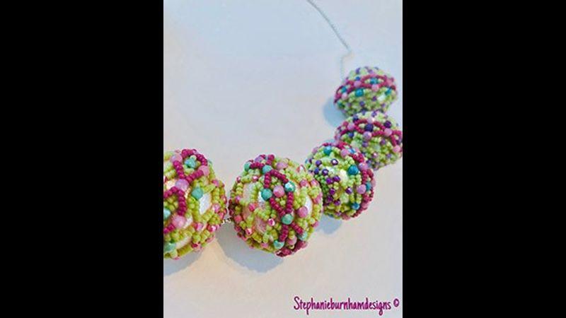 Candy Pops bead weaving design by Stephanie Burnham