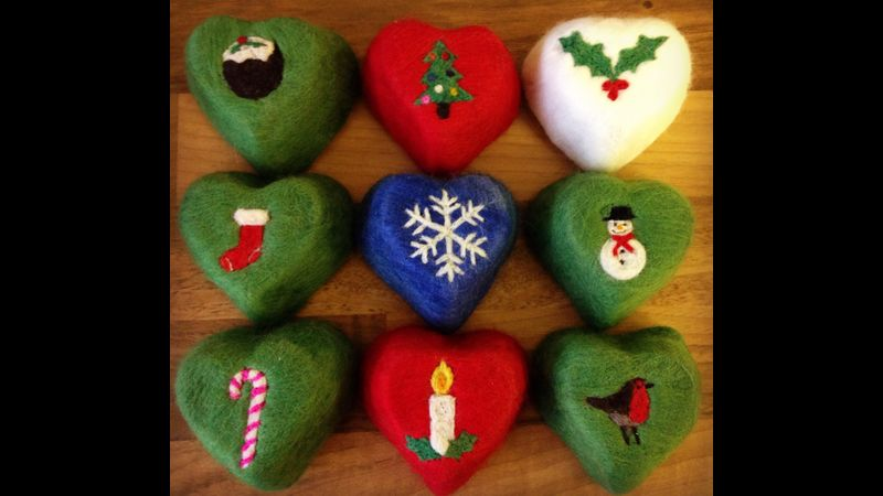 Christmas Felted Soaps
