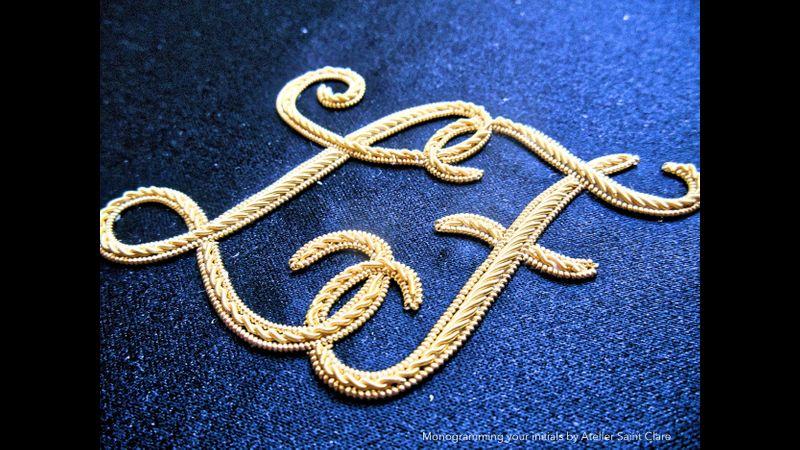 Monogram your initials