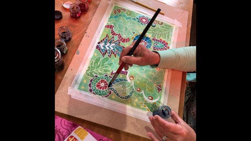 Beautiful Batik on Paper