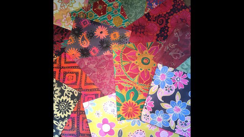 Beautiful Batik on Paper.
