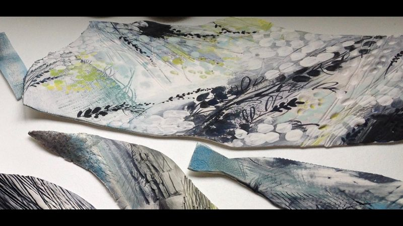 Student Karen Birchwood painted porcelain