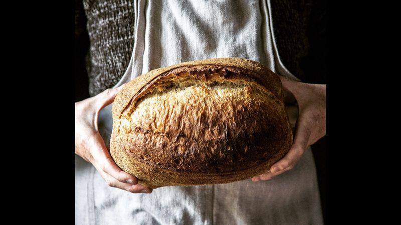 Fresh crusty loaves