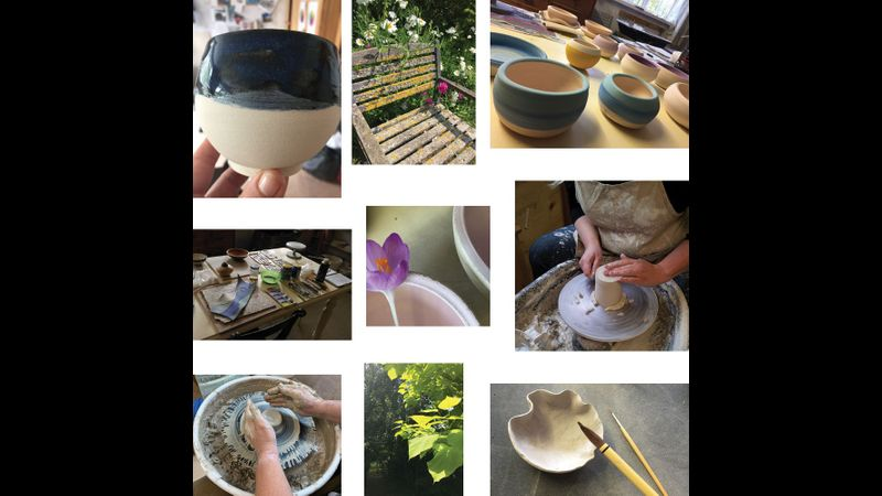 Enjoy the many ways you can form clay, and be inspired by the pretty setting too!