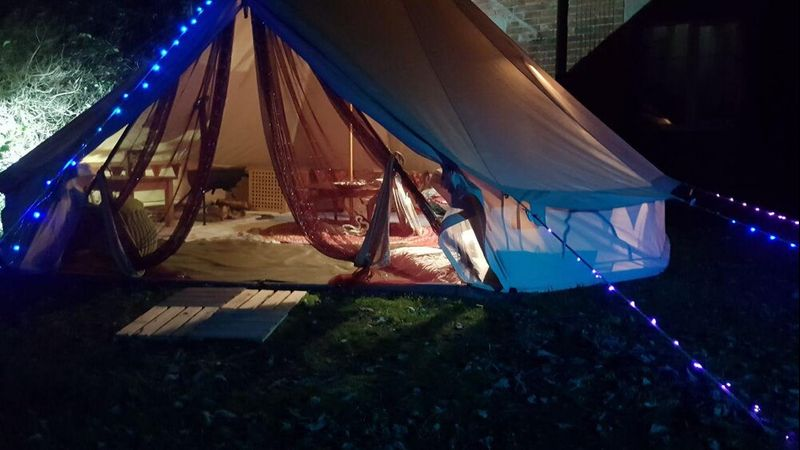 Bell tent for storytelling events