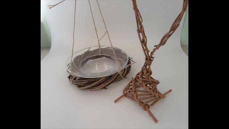 Willow Bird Bath and Feeder Craft Kit
