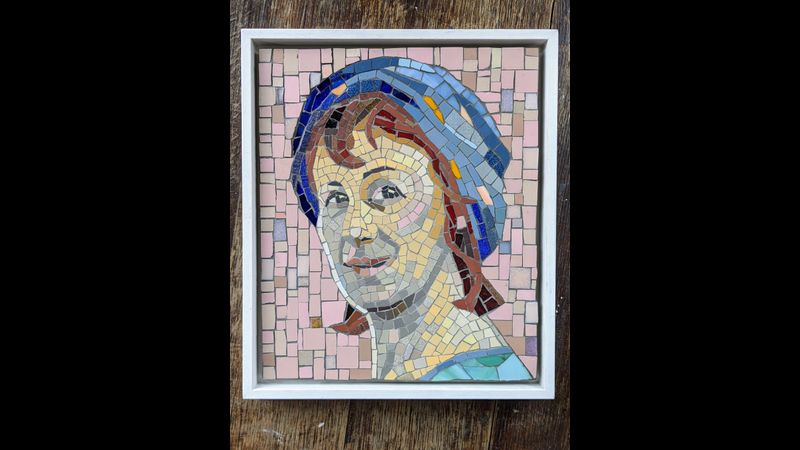 Deb with turban - Portrait in Mosaic