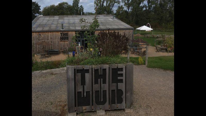 Workshop venue for 11th April workshop The Hub, Quarry Farm, Bodiam