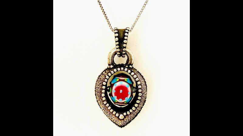 In a Spin Silver Clay Pendant by Tracey Spurgin