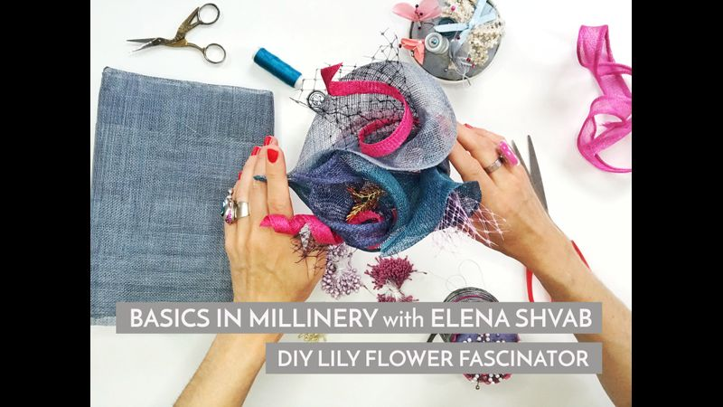 DIY Lily Flower Fascinator _ Online Course