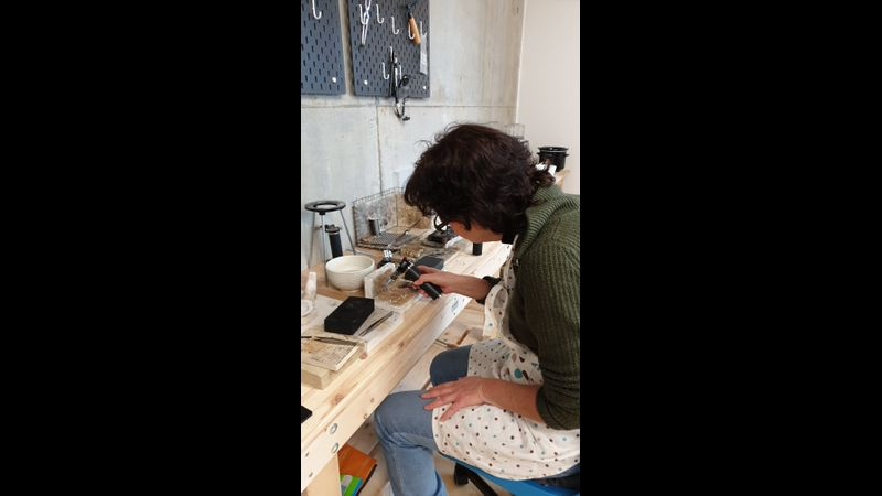 Ring Making in the studio.